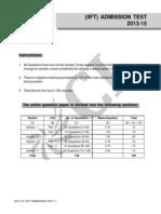 IIFT 2013-15 Admission Test_Q