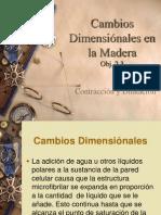 Cambios Dimensiónales en La Madera