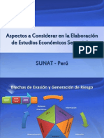 Aspectos a Considerar en La Elaboración de Estudios Sectoriales