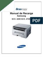 ManualRecarga Samsung scx-4200