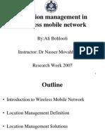 LocationManagementforWirelesMobileNetworks.ppt