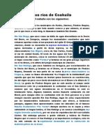 Rios y Presas de Cuahuila
