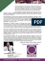 Carta Podemos Valladolid