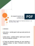 A Constituição Da Teoria Da Literatura