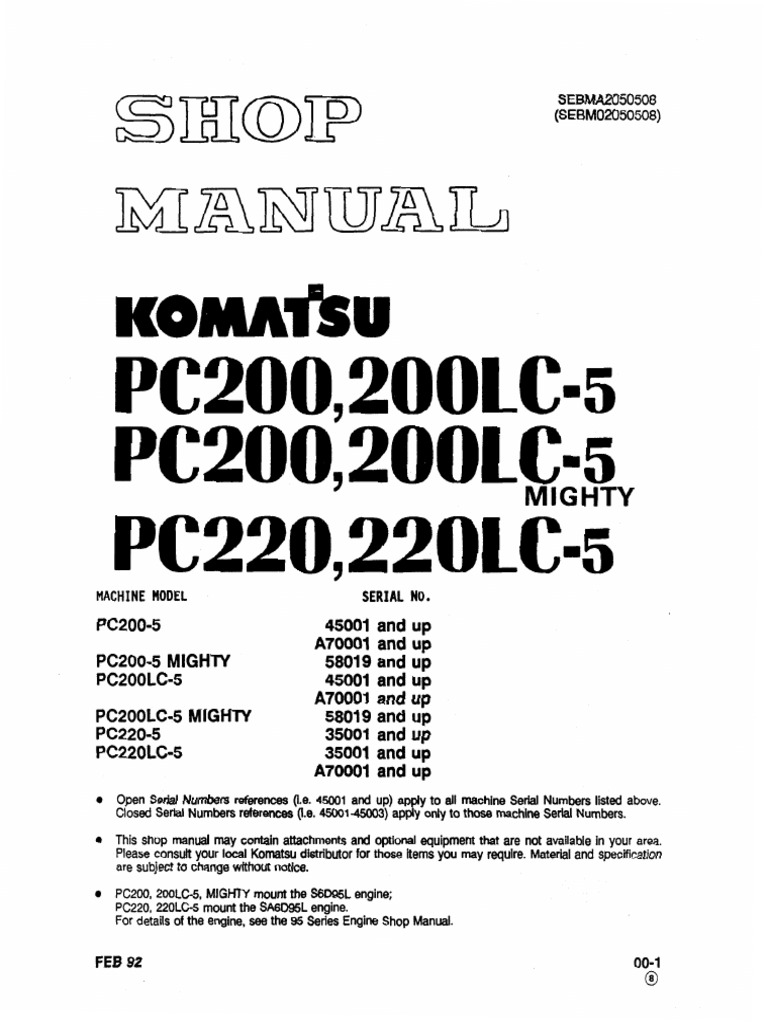 Komatsu Pc 220 Wiring Schematic Trusted Diagram Fg Forklift 30011 Sebda2050508 Sm Pc220 5 Screw Nut Hardware Loader Radio