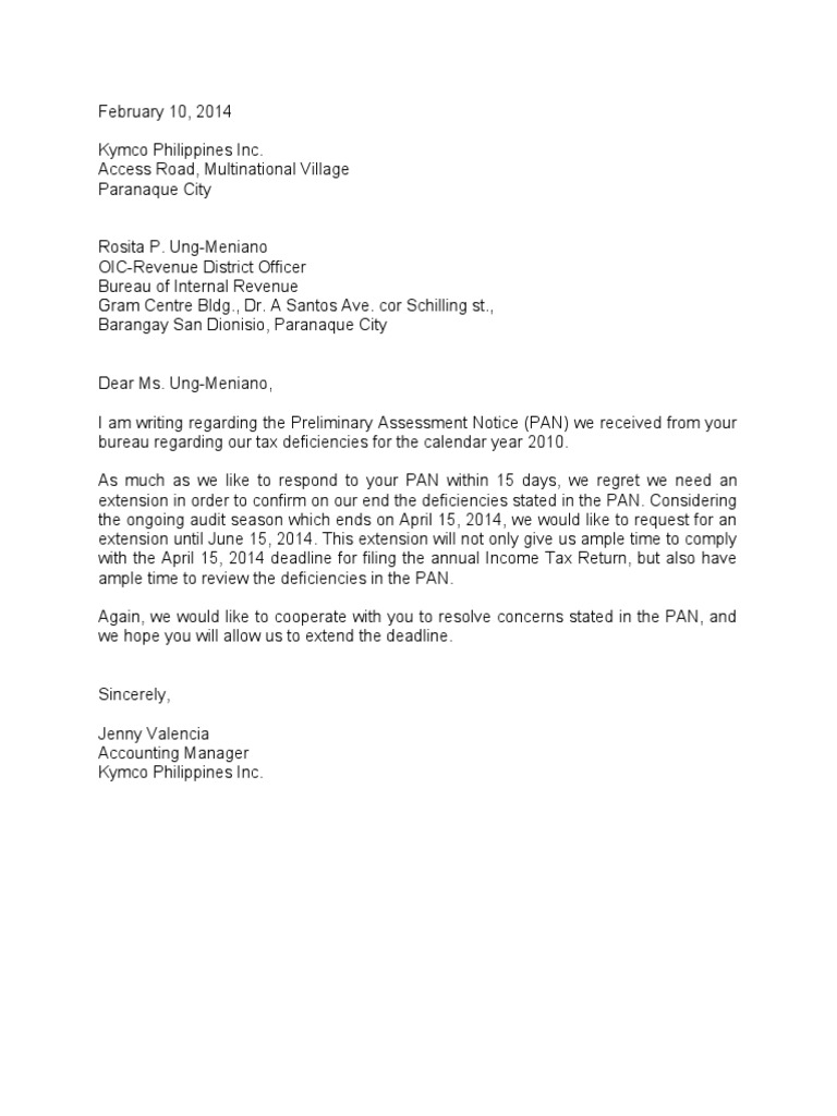 letter asking for extension of deadline letter of request for extension 15906