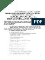 Memoria Cal e Desc Dren 500 Dre 2011