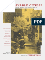 Peter Evans, Ed. Livable Cities- Urban Struggles for Livelihood and Sustainability 2002