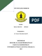 referat anti tetanus serum