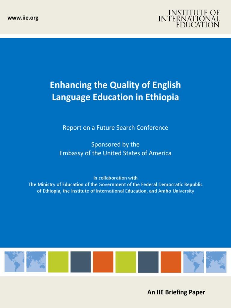 Ethiopia Briefing Paper | Language Education | Curriculum