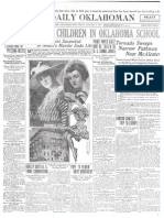 In 1917, an Oklahoma tornado killed 16 students at a poorly constructed Indian Mission school