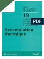 Accumulation Thermique
