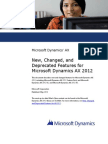 New Changed and Deprecated Features for Microsoft Dynamics AX 2012