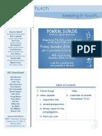Newsletter - November 15, 2009