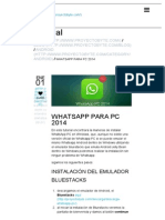 WhatsApp PC 2014 _ Descarga Gratis
