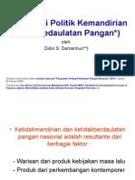 Ekonomi Politik Kemandirian dan Kedaulatan Pangan (didin)