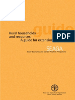 Book FAO, TLGEN4 Rural Households and Resources Guide FAO 2004