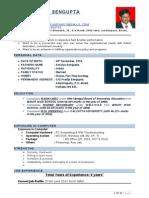 CV of Shyamtanu Sengupta