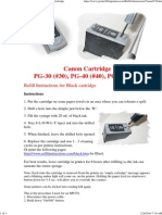 Refill Instructions for the Canon PG-40 Black Ink Cartridge