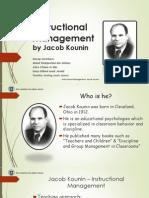 Instructional Management by Jacob Kounin