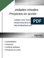 Comunidades Virtuales proyectos en acción
