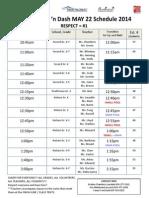 Temp May 22 Splash 'n Dash Schedule 2014