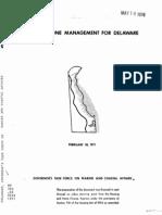 Coastal Zone Management for Delaware