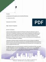 Lettre de la présidente de La Boussole au président de la FFCB (23 avril 2014)