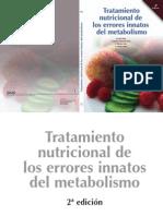 Libro Tratamiento Nutricional de Errores Innatos Del Metabolismo