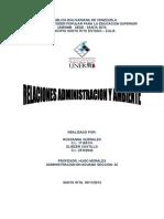 Relaciones Administración y Ambiente