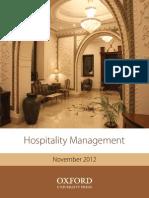 Hospitality Mgmt