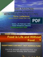 Presentasi Ketahanan Pangan DTI (Ferry Julianto)