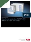 1MRK504112-SUS C en Transformer Protection RET670 1.2 650 1.1 ANSI
