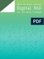 Digital R&D for the Arts in Scotland - Case Studies