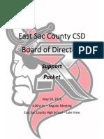 May 19, 2014 ESC School Board Support Docs