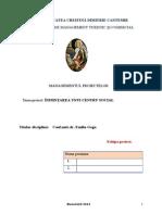 Managementul Proiectelor - Infiintarea Unui Centru Social