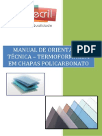 Manual de Orientação - Policarbonato