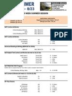 2014 Summer Schedule Paramus