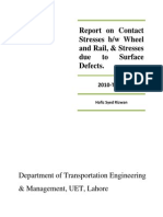 Report on Contact Stresses Railway