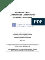 CEPP-La Reforma de Los Estatutos Docentes en Colombia