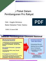 Kebijakan Fiskal Dalam Pembangunan Pro Rakyat