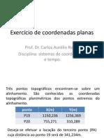 Exercício de Coordenadas Planas-sistemas