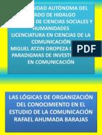 Lógicas de La Organización Del Conocimiento en El Estudio de La Omunicación