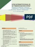 8vo Encuentro Interinstitucional de Prácticas y Residencias Educativas. Salta. Arg.