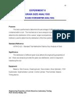 Experiment 6-Grain Size Analysis