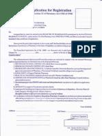 Application of Registration pharma licenc