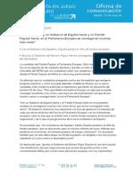 Nota de prensa de Sofía Acedo - Europeas