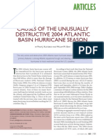 Causes of Hurricane 2004 Season