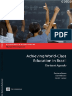 Achieving World-Class Education in Brazil. the Next Agenda