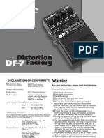 Digitech Df-7 Distortion Factory Oem Manual